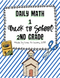 Daily Math 1 (Back to School) Second Grade