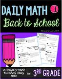 Daily Math 1 (Back to School) Third Grade