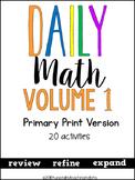 Daily Math Vol. 1 Primary Print