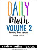 Daily Math Vol. 2 Primary Print
