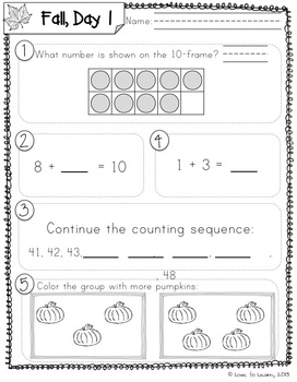 Daily Math 2 (Fall) First Grade