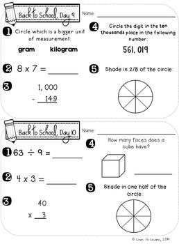 Daily Math 2 (Fall) Fourth Grade