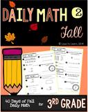 Daily Math 2 (Fall) Third Grade