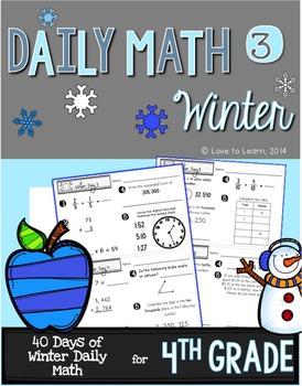 Daily Math 3 (Winter) 4th Grade