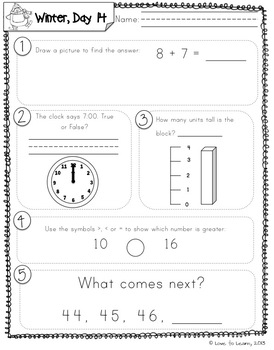 Daily Math 3 (Winter) First Grade