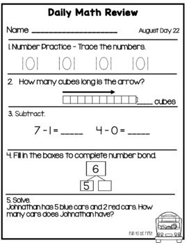Daily Math - Back to School Edition
