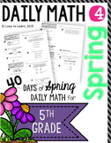 Daily Math 4 (Spring) Fifth Grade