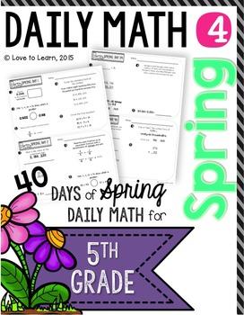 Daily Math 4 (Spring) Fifth Grade