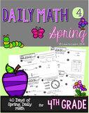 Daily Math 4 (Spring) Fourth Grade