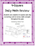 Daily Math 4-Square Math Review Packet