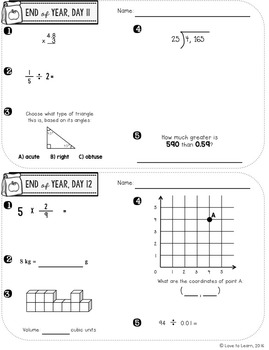 Daily Math 5 (End of Year Review) Fifth Grade