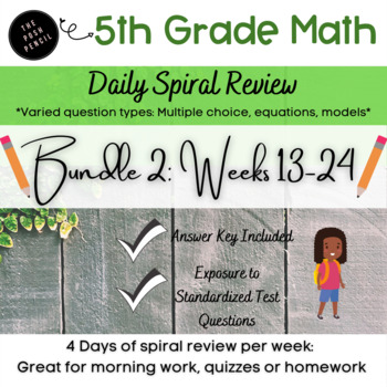 Daily Math 5th Grade 2nd 12 Weeks Bundle