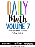 Daily Math Vol. 7 Primary Print