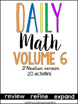 Daily Math Vol. 6 (D' Nealian)