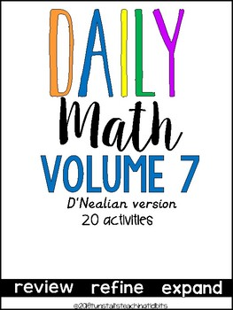 Daily Math Vol. 7 (D' Nealian)