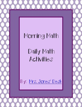 Daily Math Activties to Support Go Math - Morning Work