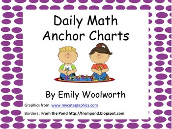 Daily Math Anchor Charts Freebie