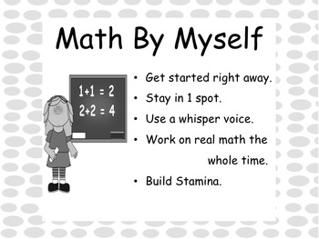 Daily Math Anchor Charts in Grayscale Freebie