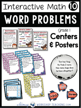 Grade 1 Math - Word Problems to 10 and Daily Math Workbooks Bundle - Unit 10
