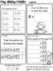 Set 2 OCTOBER Daily Math Practice and Review Worksheets for First Grade
