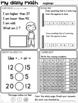 Grade 1 Daily Math Board Workbooks SET 4