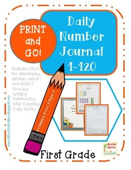 Daily Math Review -Numbers and Operations  1-120 CCA-Print and Go-No Prep!