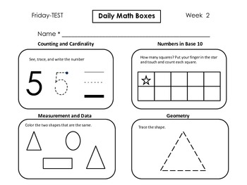Daily Math Boxes (Qtr. 1 weeks 2-9)