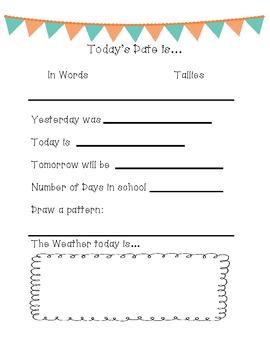 Daily Math Calendar