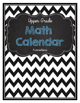 Daily Math Calendar- Rounding, number sense, fractions, angles, triangles, etc.
