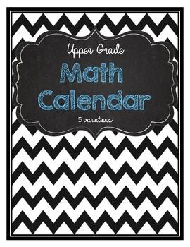 Daily Math Calendar- Rounding, number sense, fractions, an