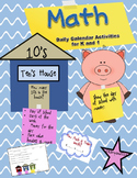 Daily Math Calendar Activities for K-1 Place Value, Number