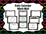 Daily Math Calendar Wall Chalkboard Bright Neon