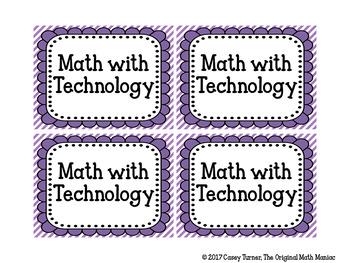 Daily Math Center Signs EDITABLE
