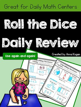 Daily Math Centers: Roll, Write, and Wipe!