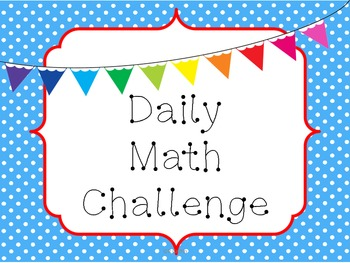 Daily Math Challenge
