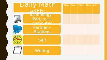 Daily Math Choice Board