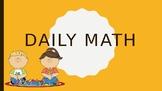Daily Math Choice Board