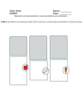 Daily Math Common Core Grade 2 Journal POD