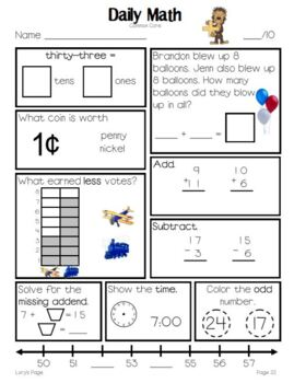 Daily Math Grade 2 - Term 1