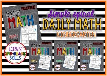 Friday Daily Math  Kindergarten - All 4 terms