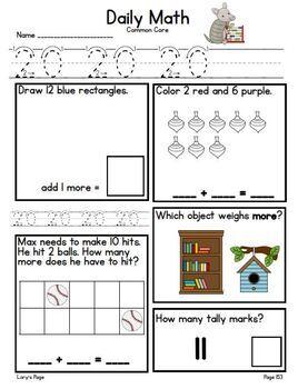 Daily Math Kindergarten - Term 4