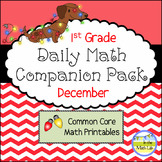 Daily Math *Companion Pack* -    1st Grade Math Printables for December