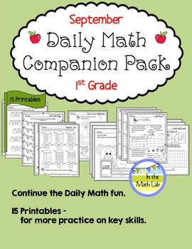 Daily Math *Companion Pack* - 1st Grade Math Printables for September