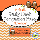 Daily Math *Companion Pack* - 1st Grade Math Printables for November