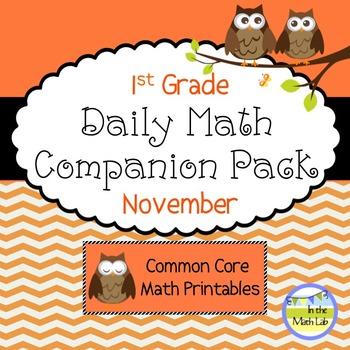 Daily Math *Companion Pack* - 1st Grade Math Printables for November