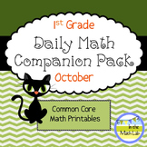 Daily Math *Companion Pack* - 1st Grade Math Printables for October