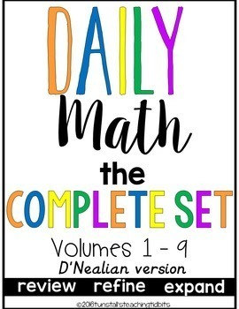 Daily Math Complete Set D'Nealian