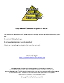 Daily Math Extended Response Packet 1