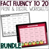 Daily Math Fact Fluency Practice for the YEAR | Worksheets