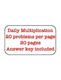 Daily Math Facts -Multiplication by 5, 12, 15, and 25 - 20